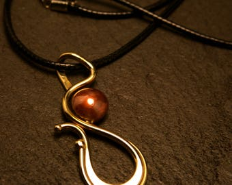 Pendant with Copper dome-Handmade Metalwork