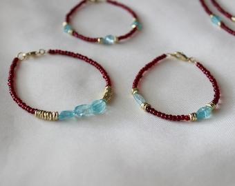 Apatite Beaded Layering Bracelet