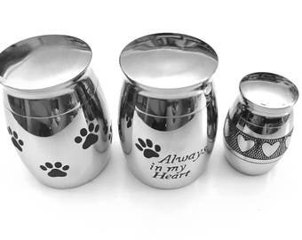 Dog Paw Urn, Cremation Necklace, Pet Urn, Dog Paw Urn Vessel, Pet Ashes Holder, Cremation Urn, Memory Urn, Urn