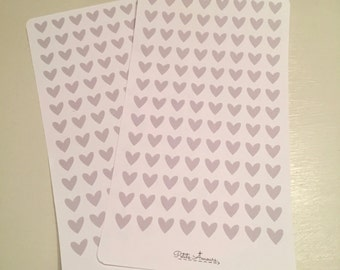 Custom Made Grey Heart Stickers - Mariko