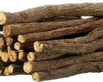 Licorice Root Sticks -  6 Sticks.  (Glycyrrhiza uralensis).