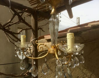 French antique glass chandelier