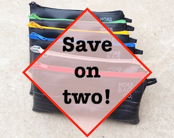 Bike Tube Zipper Pouches - Cyclist Gift Under 30 - SAVE ON TWO!
