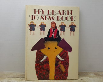 My Learn to Sew Book, 1970, Janet Barber, Golden Press, vintage kids book
