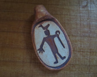 Bird Man Rock Art Jewelry Pendant Bead Centerpiece