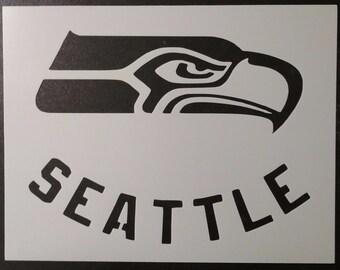 Seattle Seahawks Custom Stencil FAST FREE SHIPPING