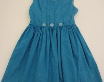 petite robe bleue vintage