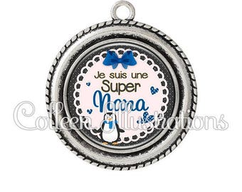 Cabochon 25mm pendant I am a great girl - 6 series