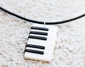Piano necklace Music jewelry Keyboard necklace Men necklace Gift for him Music gift man jewelry Musician gift Piano player gift Pianist gift