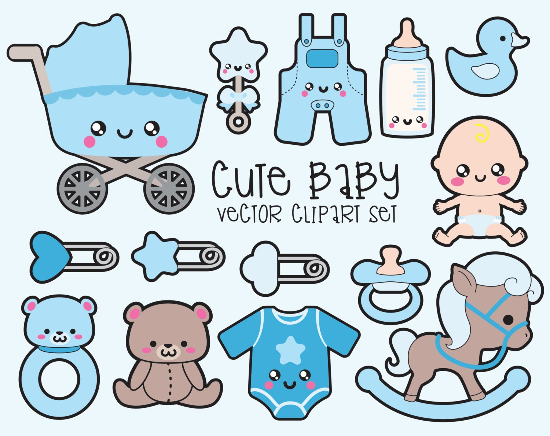 Premium Vector Clipart Kawaii Baby Clipart Kawaii Baby