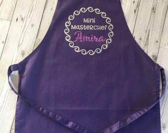 Childrens 'Mini Masterchef' apron & utensil gift set