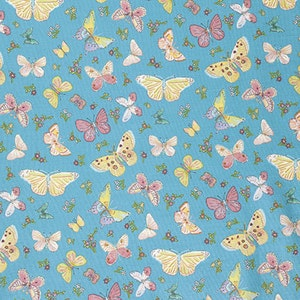 Dena designs Butterfly Garden Butterfly Toss in Turquoise freespirit cotton quilting blue butterflies fabric material by the metre yard