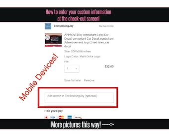 How To Enter Custom Information!
