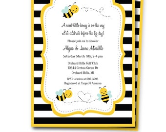 Bumble bee shower invitation bee baby shower invite bumble bumble bee shower invitation includes fre thank you note bumble bee baby shower invite bumble bee party invitation bee invite templett filmwisefo