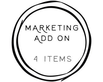 Add-on '4 Marketing Items to any Logo Design' // Solipandi Design Studio