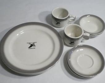 Buffalo China Mallard Seeds Restaurant Ware Set 8 Pieces