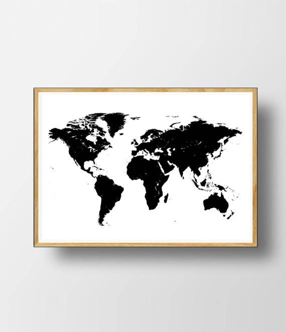 World map print world map black and white world map gumiabroncs Image collections