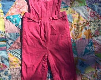Pink Corduroy Infant Overalls