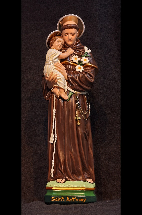 """St. Anthony of Padua 18"""" Patron of Lost Articles and Lost Souls"""
