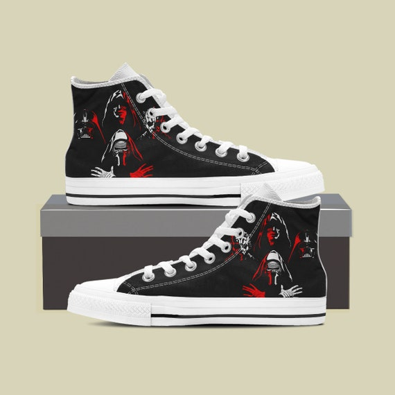Darth Last Wars Jedi vader Side Custom Star Wars Wars Star Star Shoes Shoes Wars Dark Death Custom Maul Darth Star Converse Star Sneaker Txq1wBwA
