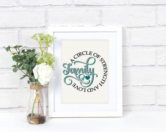 Family Quote Wall Art - Family Quote Sign - Family Quote Print - Family Sign - Family Wall Decor - Family Artwork - Family Quote Print