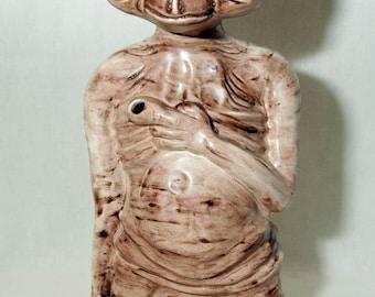 """Vintage 1980 E.T. lampe nuit Statue en céramique légère 13"""" haut"""