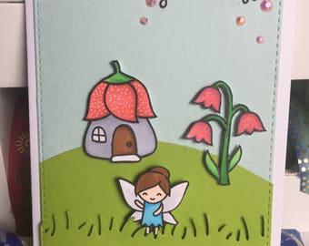 Birthday Card with Fairy