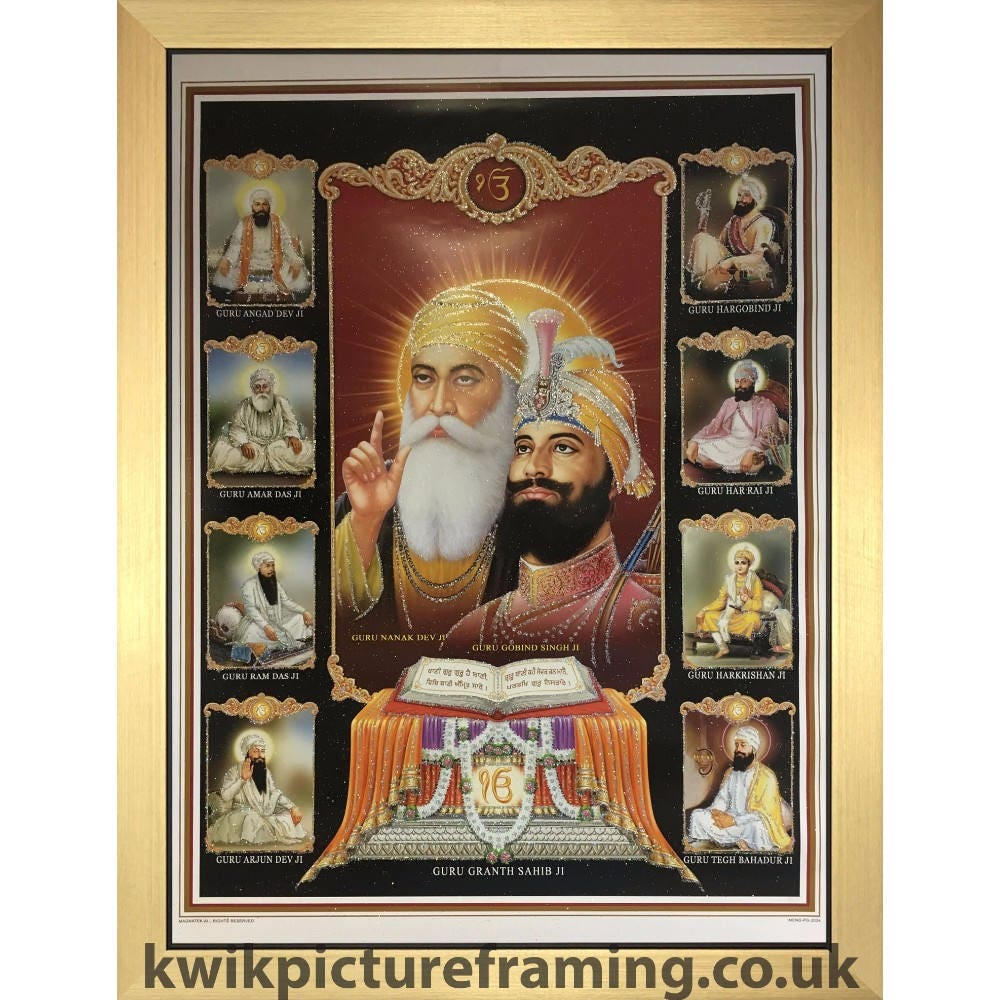 Sikh Gurus From Sikhism In Size 28 X 20 Inches Photo