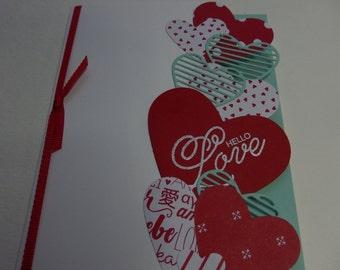 Heart Border Valentine Card