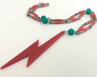 Red Lightning Necklace