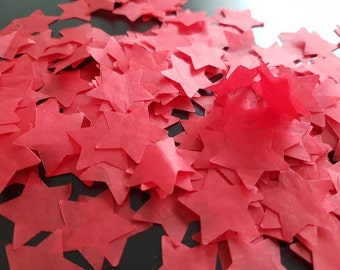 Red star handmade tissue paper party and table decor confetti Birtday/Wedding / Baby showers