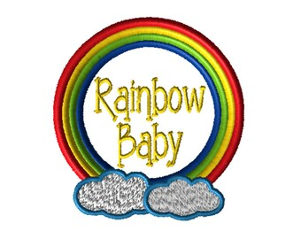 Embroidery File, Rainbow Baby, Infant and Child Loss Awareness, Embroidery Design,  hoop, Embroider, Digital File, Embroidery Pattern