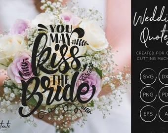 Kiss The Bride SVG