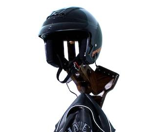 V-Twin Motorcycle Helmet Holder - Biker Equipment Rack - Helmet Storage for Harley Riders - Biker Gear Rack - Motorcycle Helmet Display