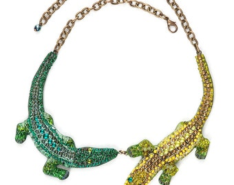 Crocodiles-necklaces handmade from stones and beads