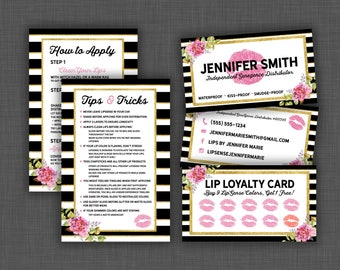 Lipsense Business Card Bundle, Lipsense Business Bundle, Lipsense Marketing Kit, Senegence Business Cards Bundle