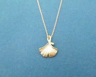 Ginko, Gold, Silver, Necklace, Minimal, Dainty, Ginko, Tree, Necklace, Birthday, Best friends, Sister, Gift, Jewelry