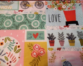 4-pc Love/flowers/birds handcrafted placemats, lined, so cute