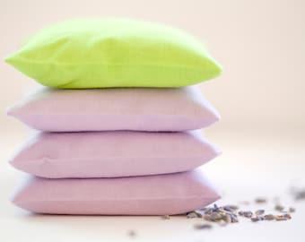 Lavender Drawer Sachet - Lavender Sachet Chartreuse Green - Herb Sachet Cotton - Lavender Bag - Mothers day Gift Sachet