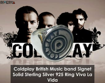 Coldplay Band, Coldplay Jewelry, Coldplay Ring, Coldplay Memorabelia, Coldplay Fans Ring, Sterling Silver Ring, Coldplay, Viva La Vida, X&Y