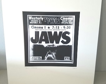 Jaws Rhode Island silver gelatin print vintage Westerly