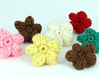 Handmade Crocheted Flowers Tutorial, it Flower PDF,