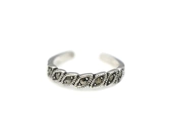 Marcasite Sterling Silver Toe Ring