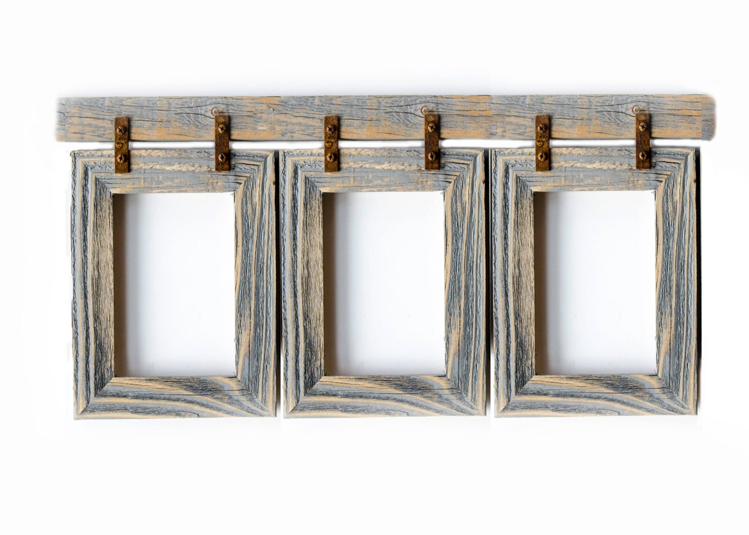 Barnwood collage frame 3 5x7 multi opening frame rustic picture 5995 jeuxipadfo Gallery