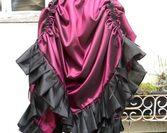 Steampunk Skirt in Pink and Black