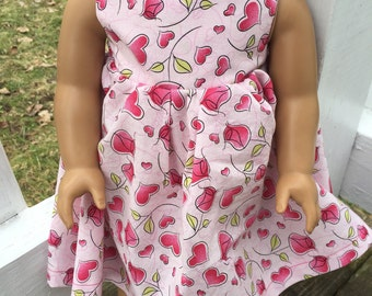 Valentines Day dress for an American Girl Doll
