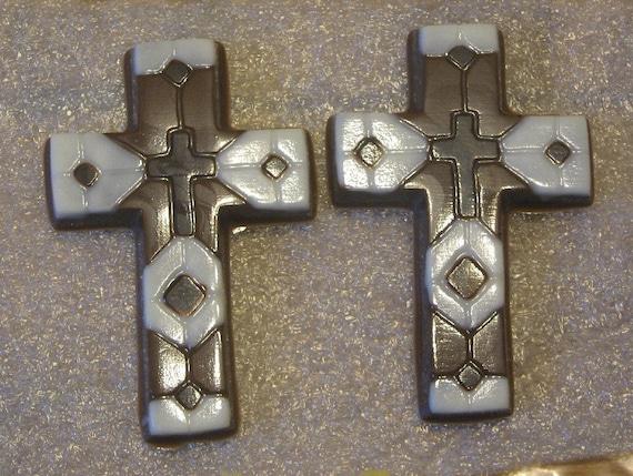 One dozen chocolate mosaic crosses