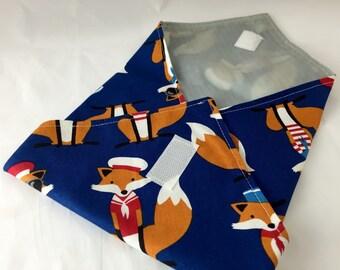 Reusable Sandwich Wrap Bag - Sailor Foxes  in Navy
