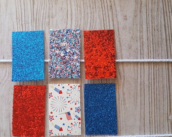 4th of July Snap Clips   Set   Blue   Red