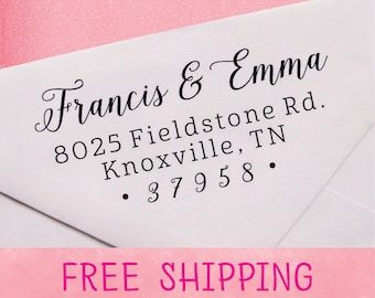 Self Inking Address Stamp, Personalized Address Stamp, Custom Return Address Stamp - A19